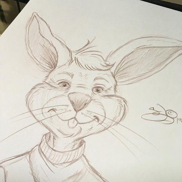 Wishing for spring already! Quick bunny sketch! #illustratorsoninstagram #illustration #art #bunny #rabbit #sketching #sketchbook #drawing #sandybrooksart