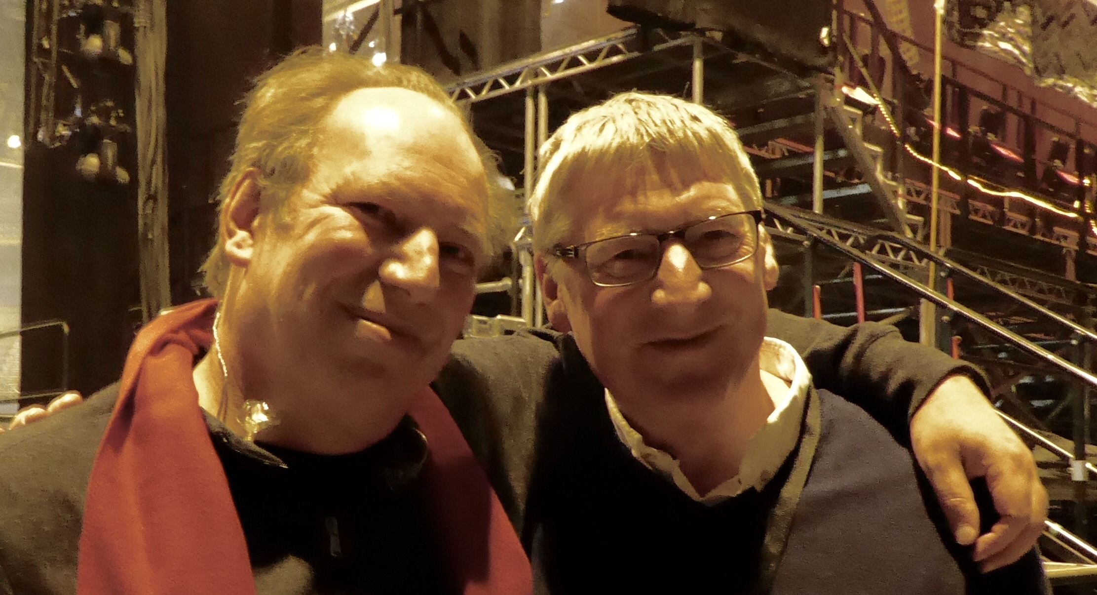 With composer Hans Zimmer on tour