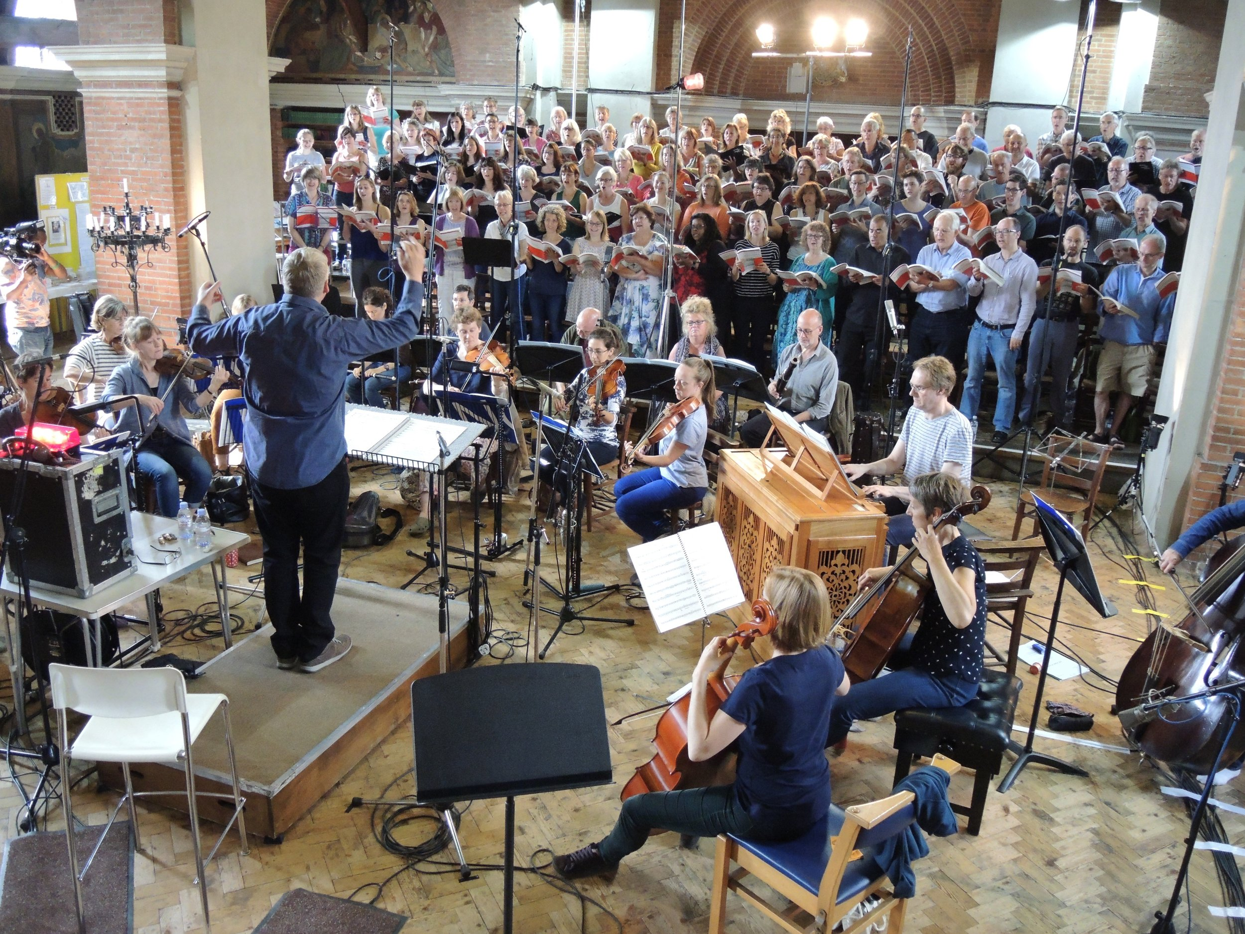 David recording  St John Passion  with CEFC and Bach Camerata
