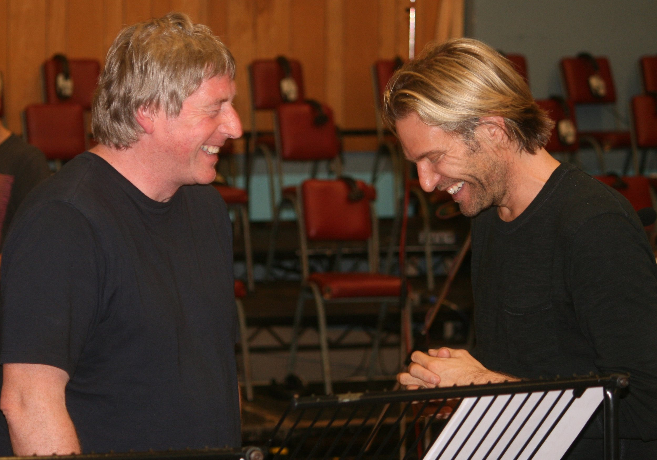 David with Eric Whitacre at Abbey Road Studios