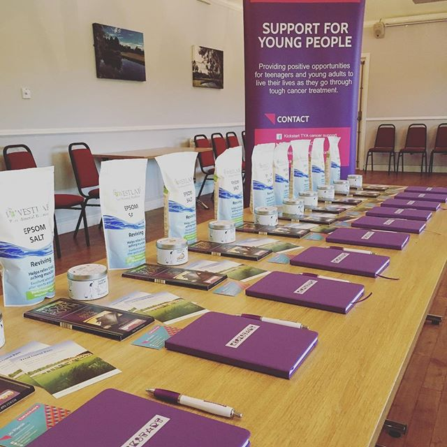 Prepping goody bags @cottinghamgolf for our workshop tomorrow #treatyourself #therapy #dealingwithcancer #cancersupport #localsupport