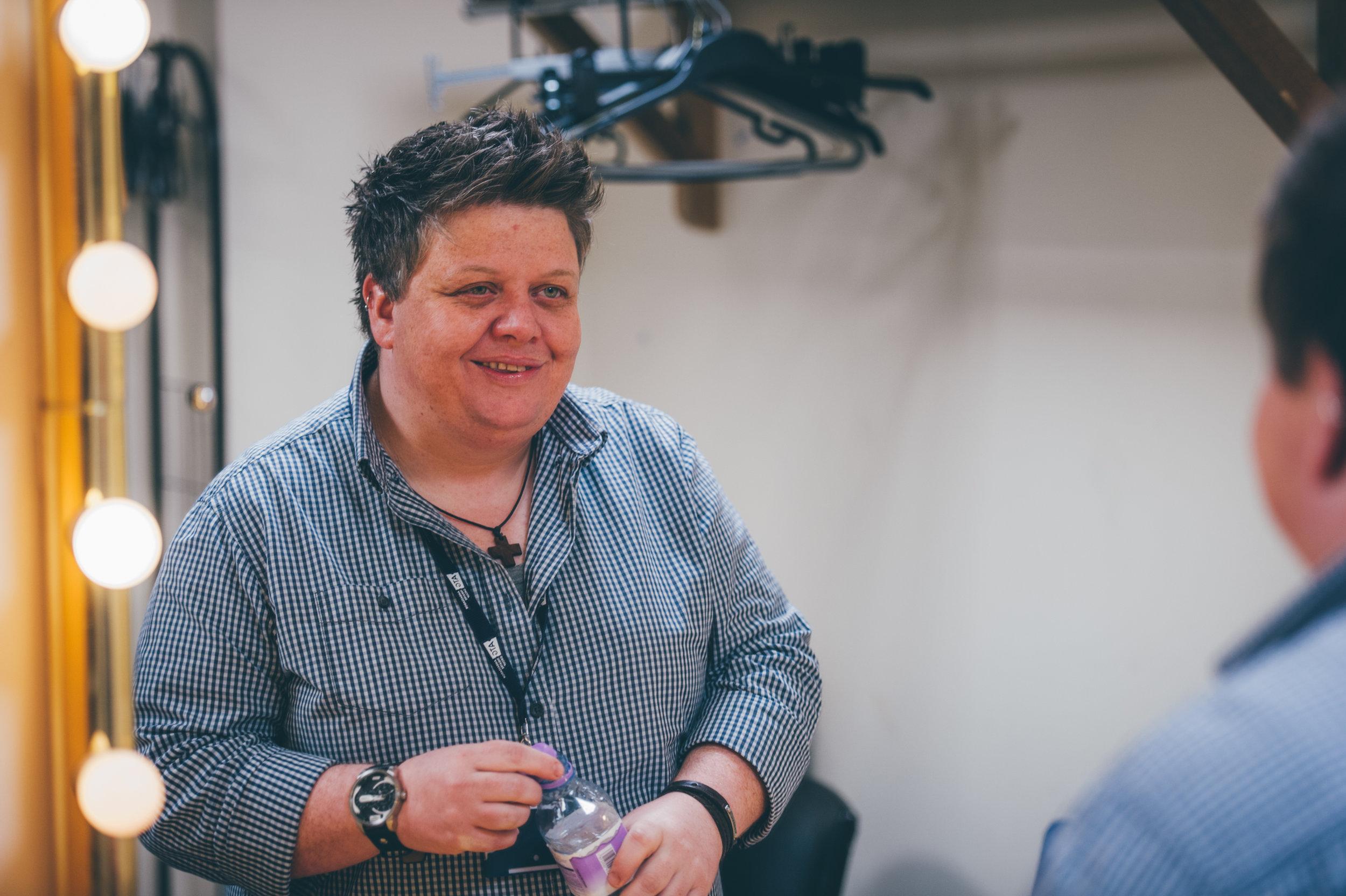 Susie McCabe, Backstage, King's Theatre, Glasgow