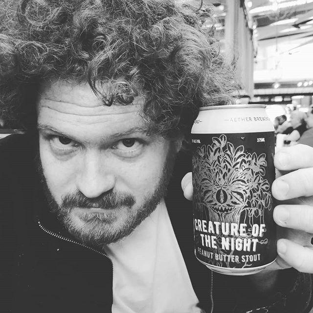 @aether_brewing beers for dinner w/ @emilyandbricedo300  #beer #dinner #brisbane #queensland #australia #blackandwhite #drinking #peanut #peanutbutter #stout #chocolate