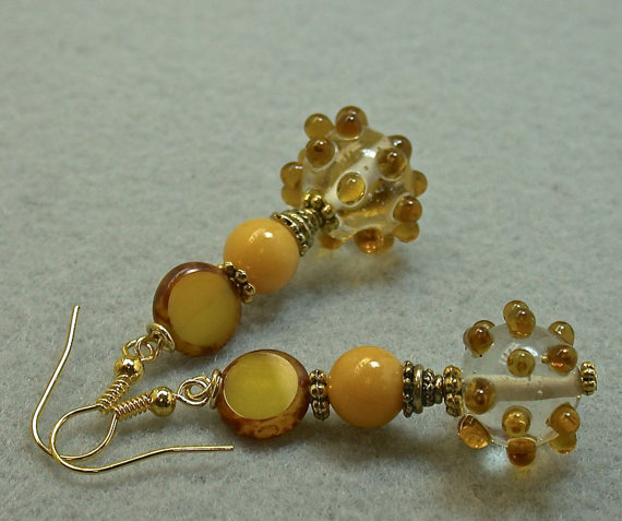Vintage Czech Glass Bead Earrings