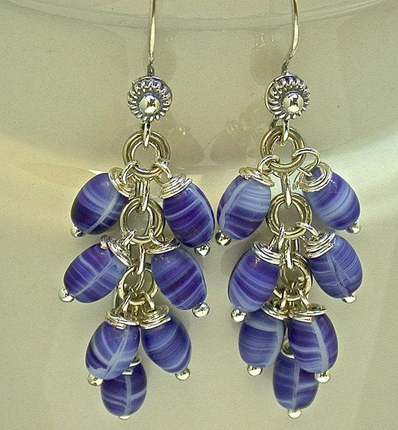 Vintage Japanese Glass Bead Earrings