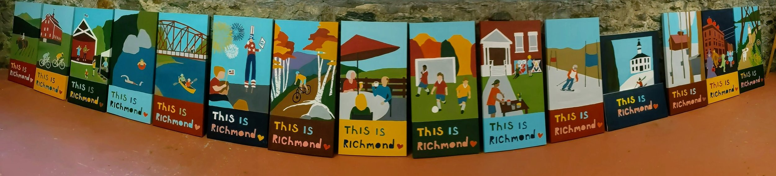 Click photo above to learn about the making of the Richmond town banners