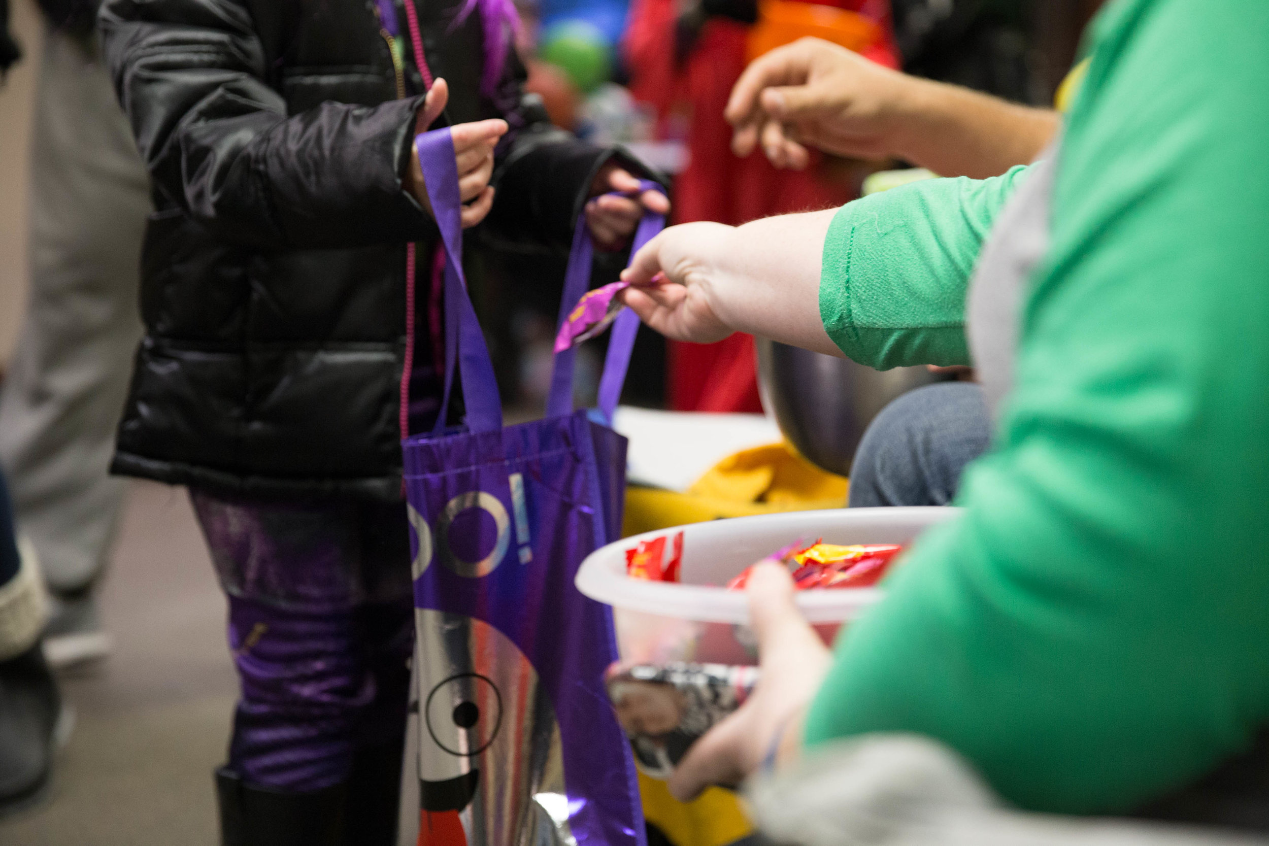 3. Volunteering - We need your help to make Treat Street as fun and exciting as we possibly can! There are several ways you can serve at the event, including decorating an area of the building, passing out candy, and more.Interested in serving? Let us know.