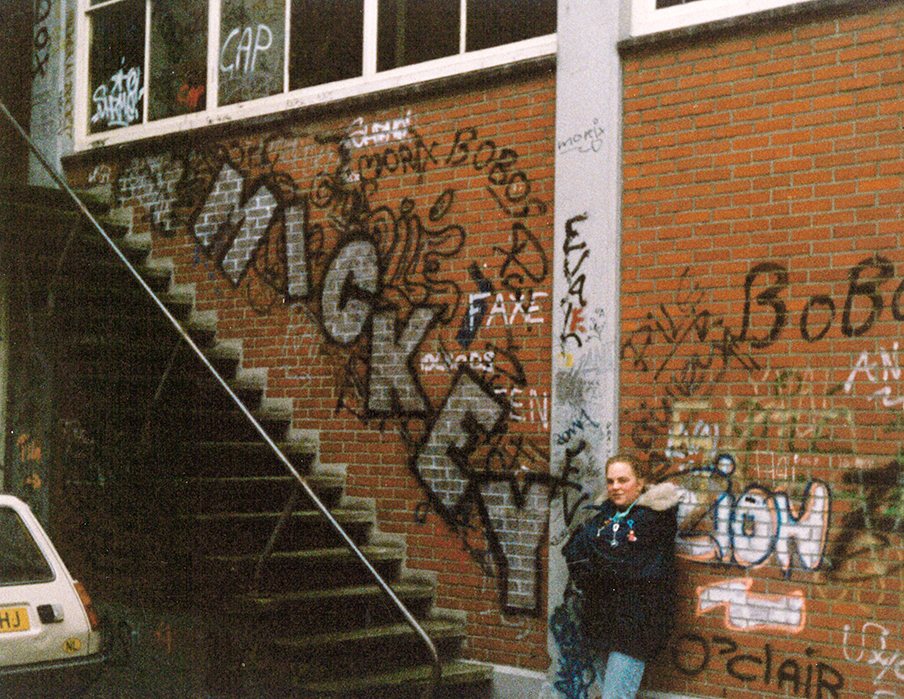 Groningen, early 1986  One of Mick's first documented pieces.
