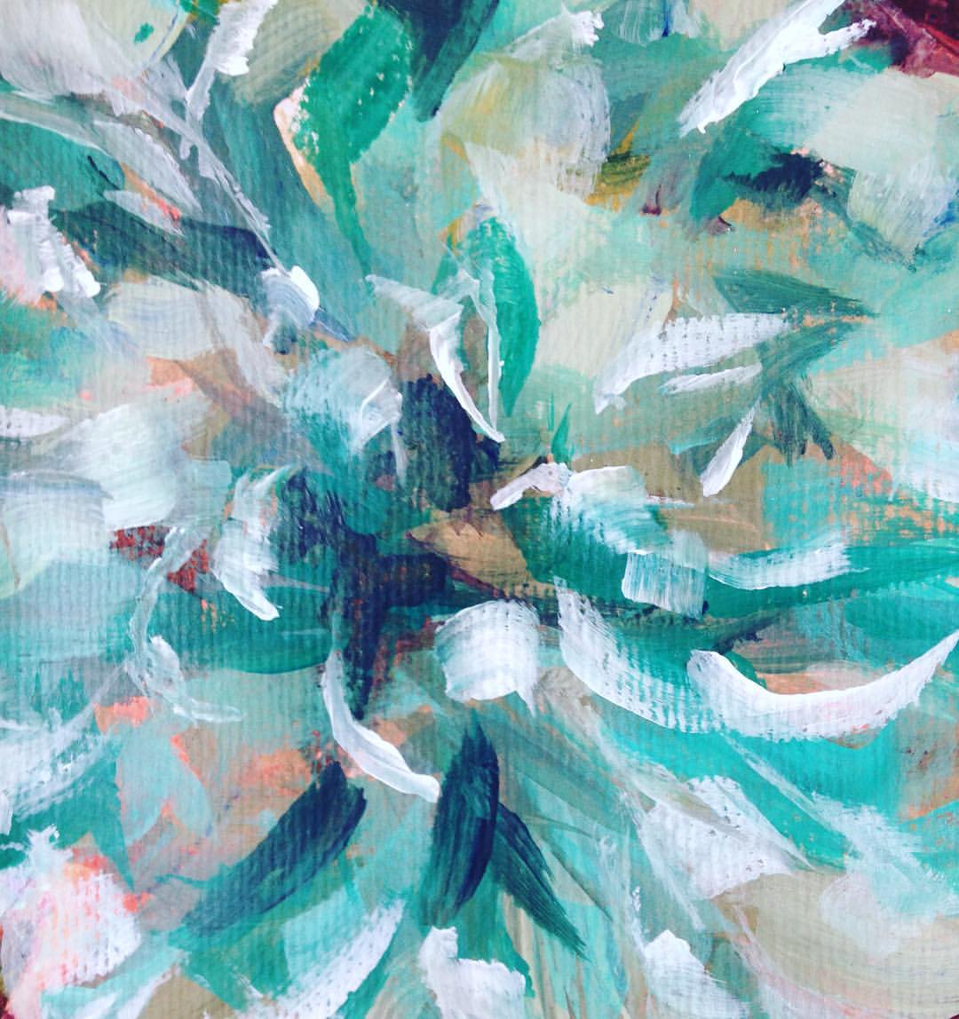 #painting #acrylicpainting #brushstrokes #brushwork #paint #acrylic #pattern #textiles #flower #pompom