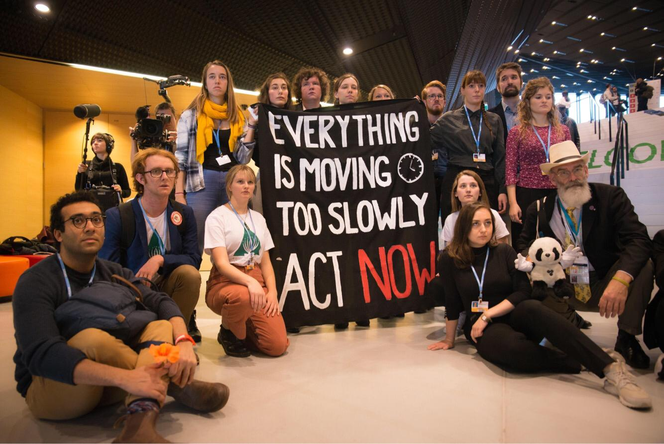 Young activists at the COP24.