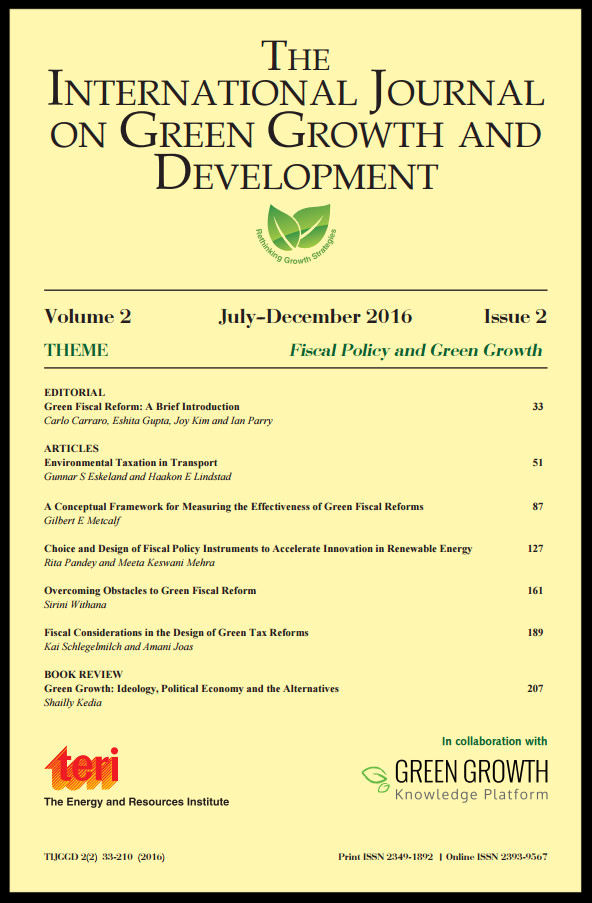 A Conceptual Framework for Measuring the Effectiveness of Green Fiscal Reforms