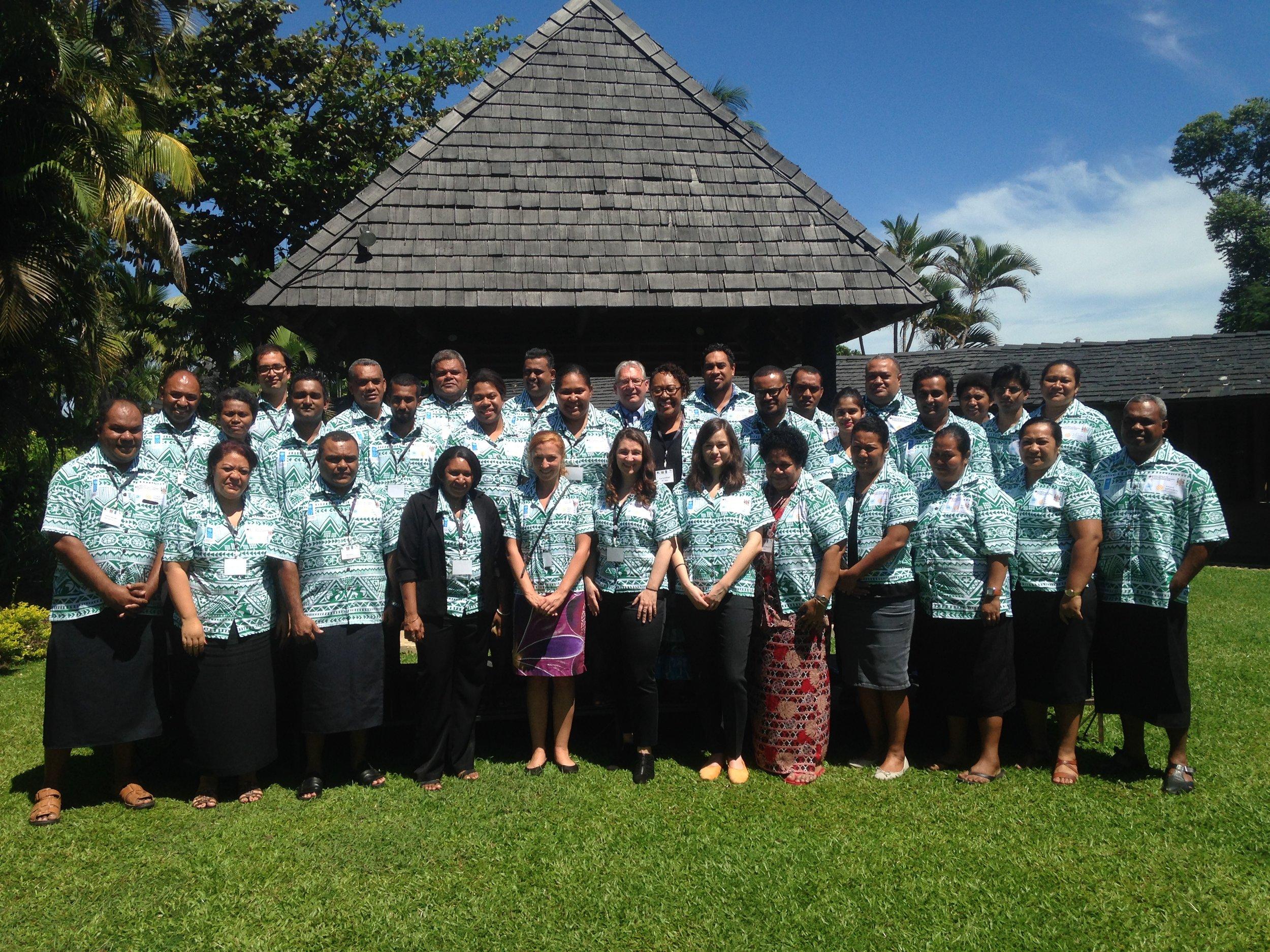 Predoctoral fellow, Rishikesh Bhandary, in Fiji.