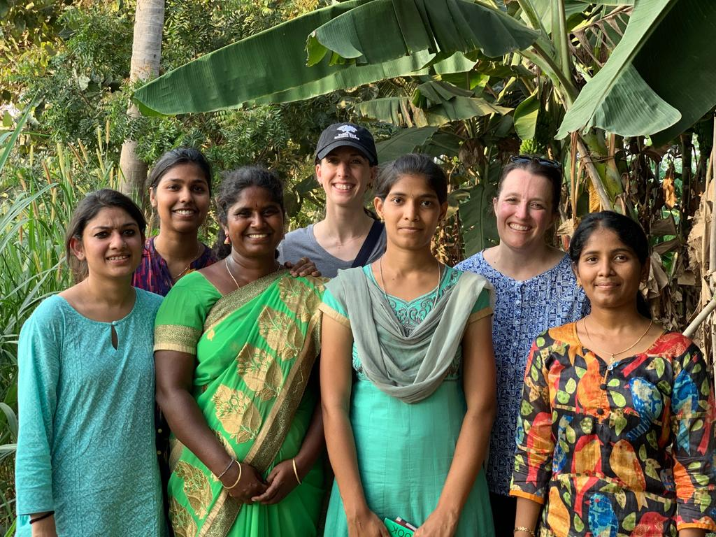 International Women's Day in India at the zero budget natural farming site.