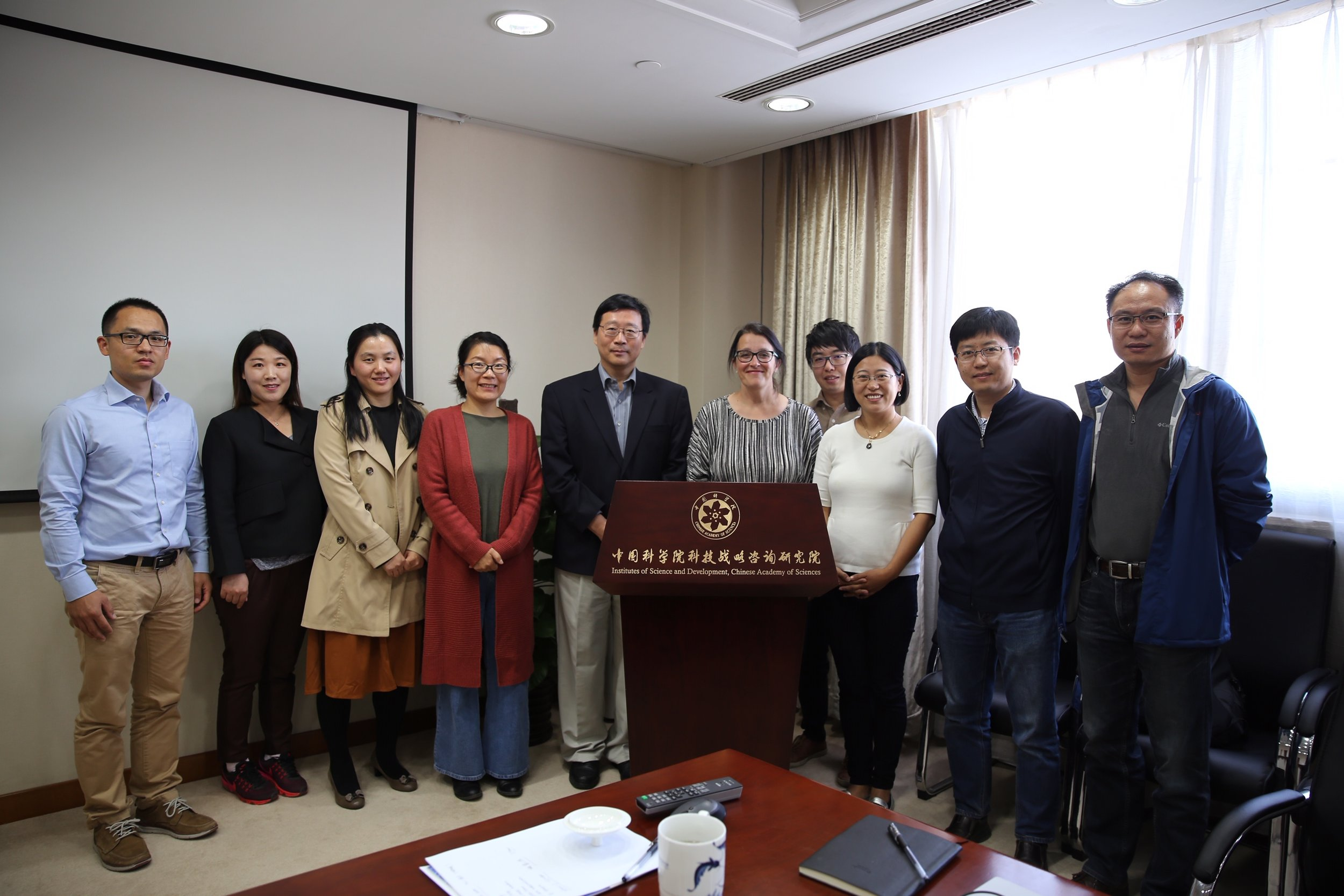Professor Wang Yi and his team from the Chinese Academy of Science, with whom the Climate Policy Lab is working on green finance policy.