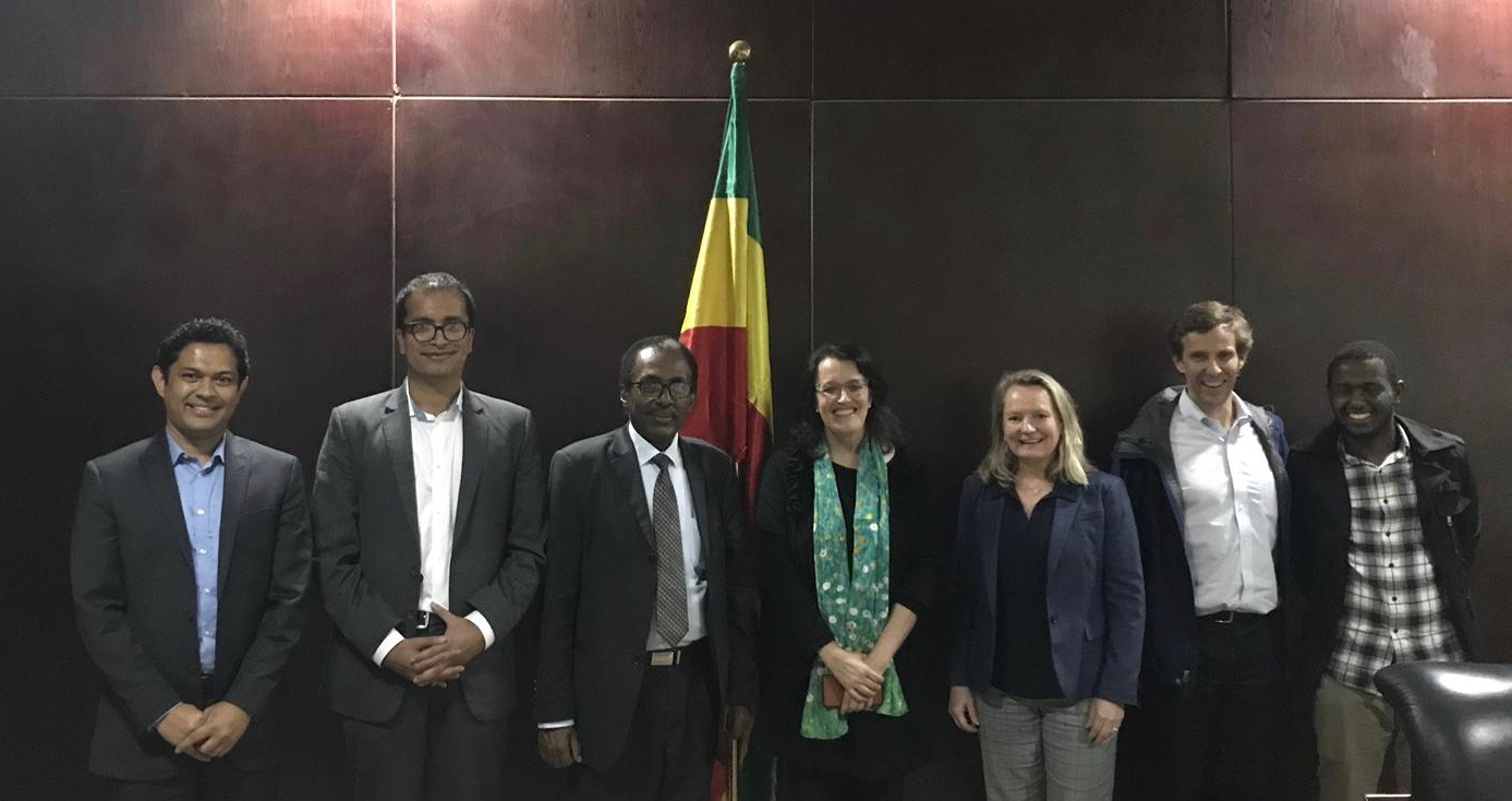 CPL team with Ethiopian Commissioner for Environment, Forests, and Climate Change Professor Fekadu along with Mike Northrup and Muluneh Hedeto.