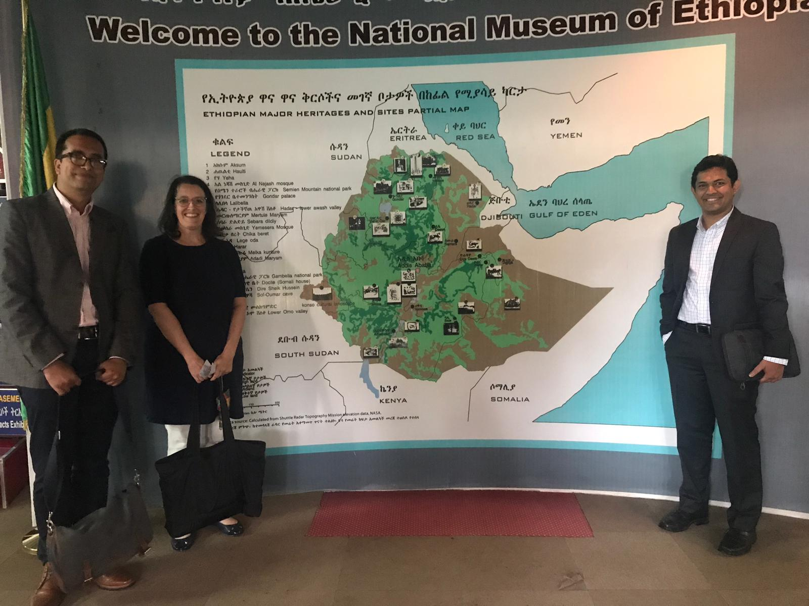 CPL team at the National Museum of Ethiopia.