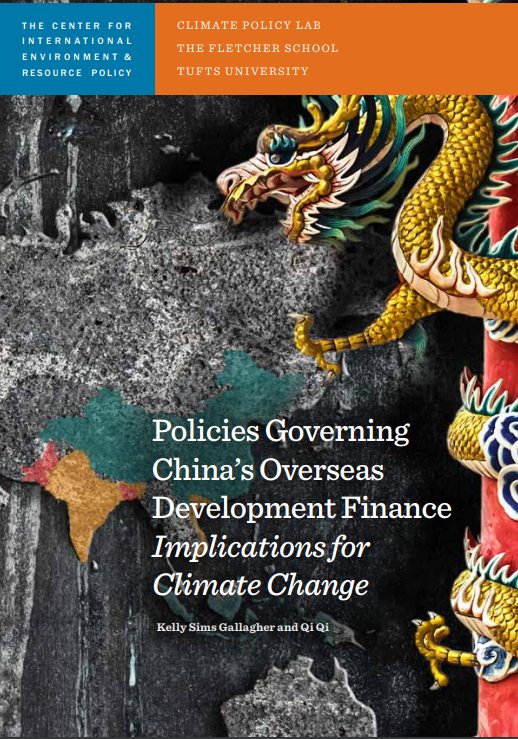 Gallagher, K. S. and Qi, Q. (2018).  Policies Governing China's Overseas Development Finance: Implications for Climate Change.  Medford, MA. Climate Policy Lab.