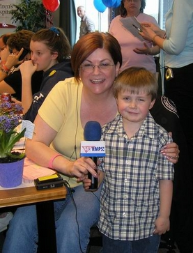 Brandon wanted to fundraise since the age of 4. He helped Flo at KMPS Seattle talk to listeners.