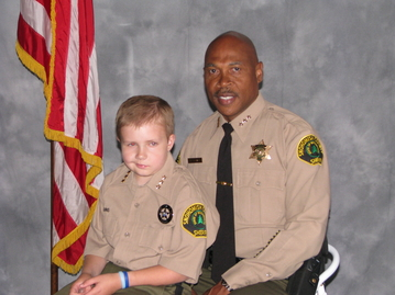 Brandon was honored to be a Chief for a Day with Sheriff John Lovick. At Brandon's funeral, Sheriff Lovick shed many tears.