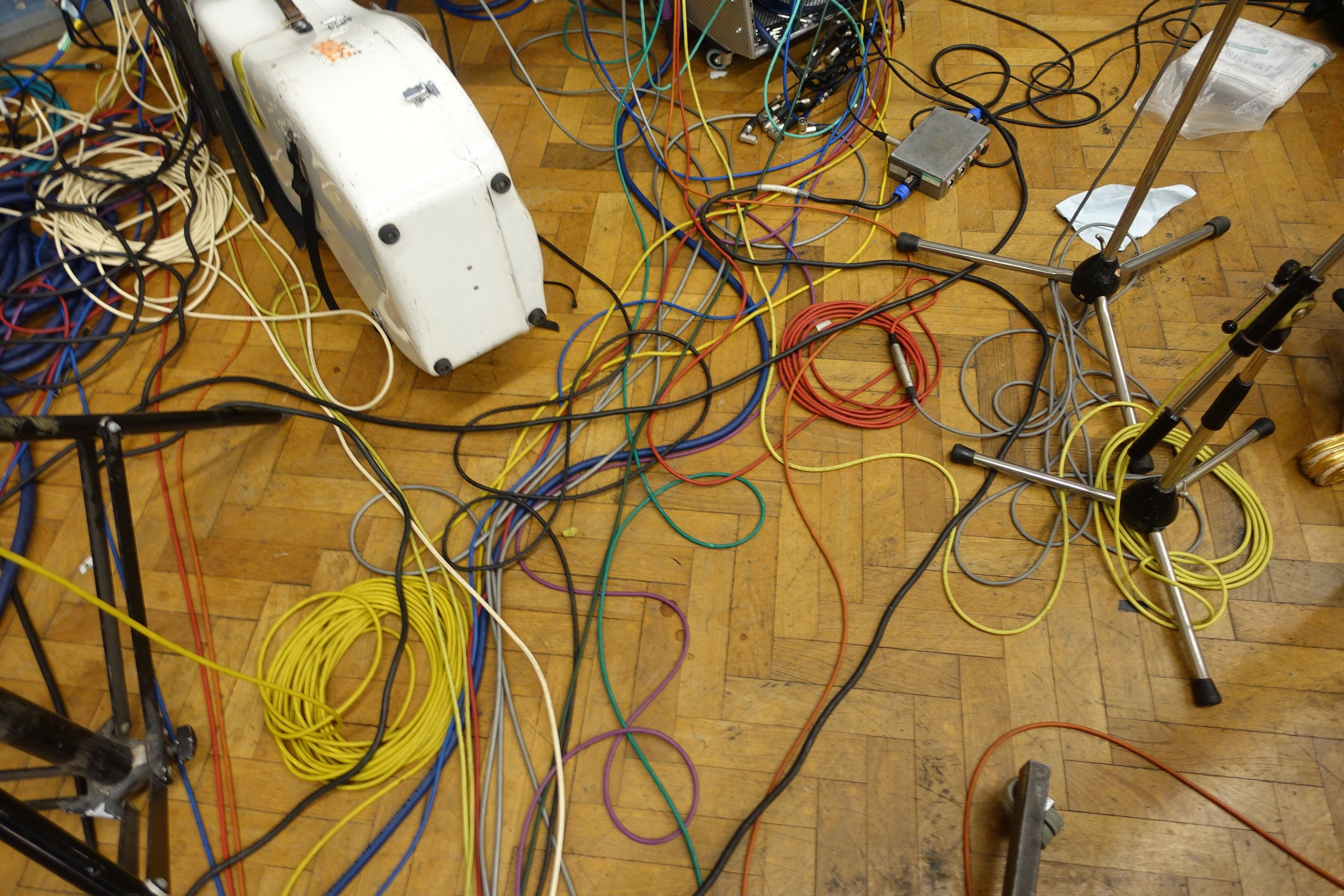 cables at Abbey Road Studio this morning