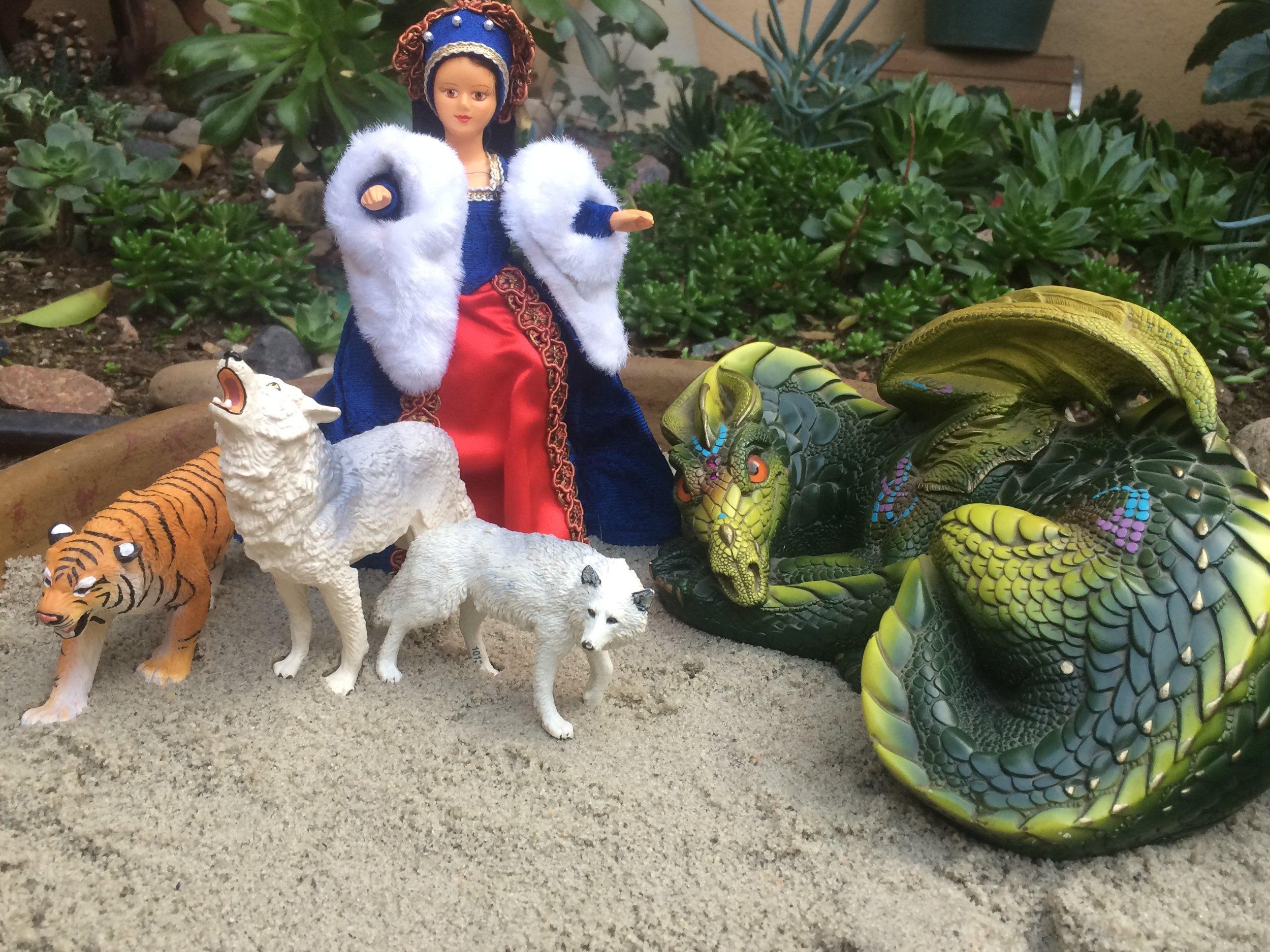 I practiced embodying dragon-rider-wolf-whisperer-sorceress...