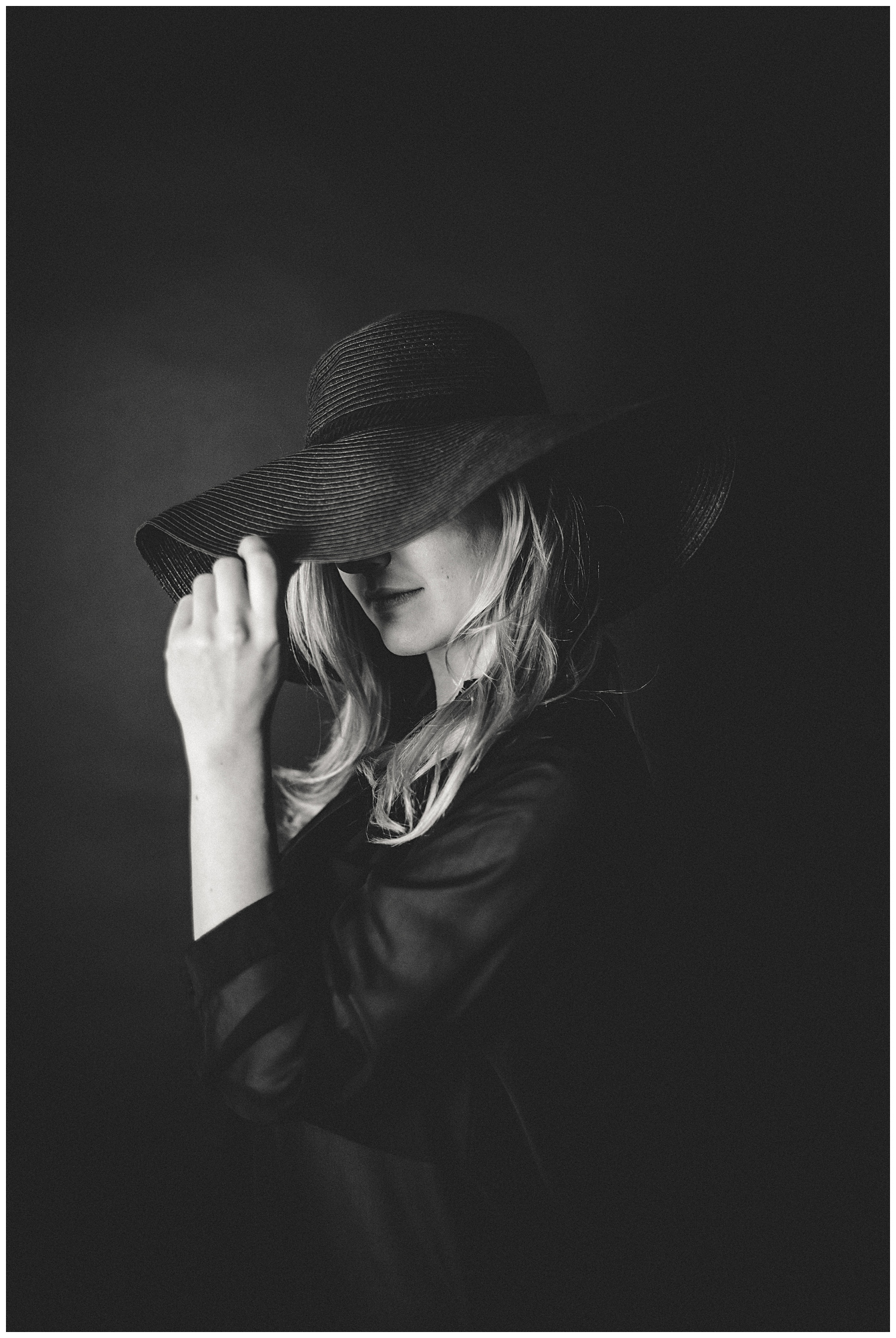 black hat editorial photography