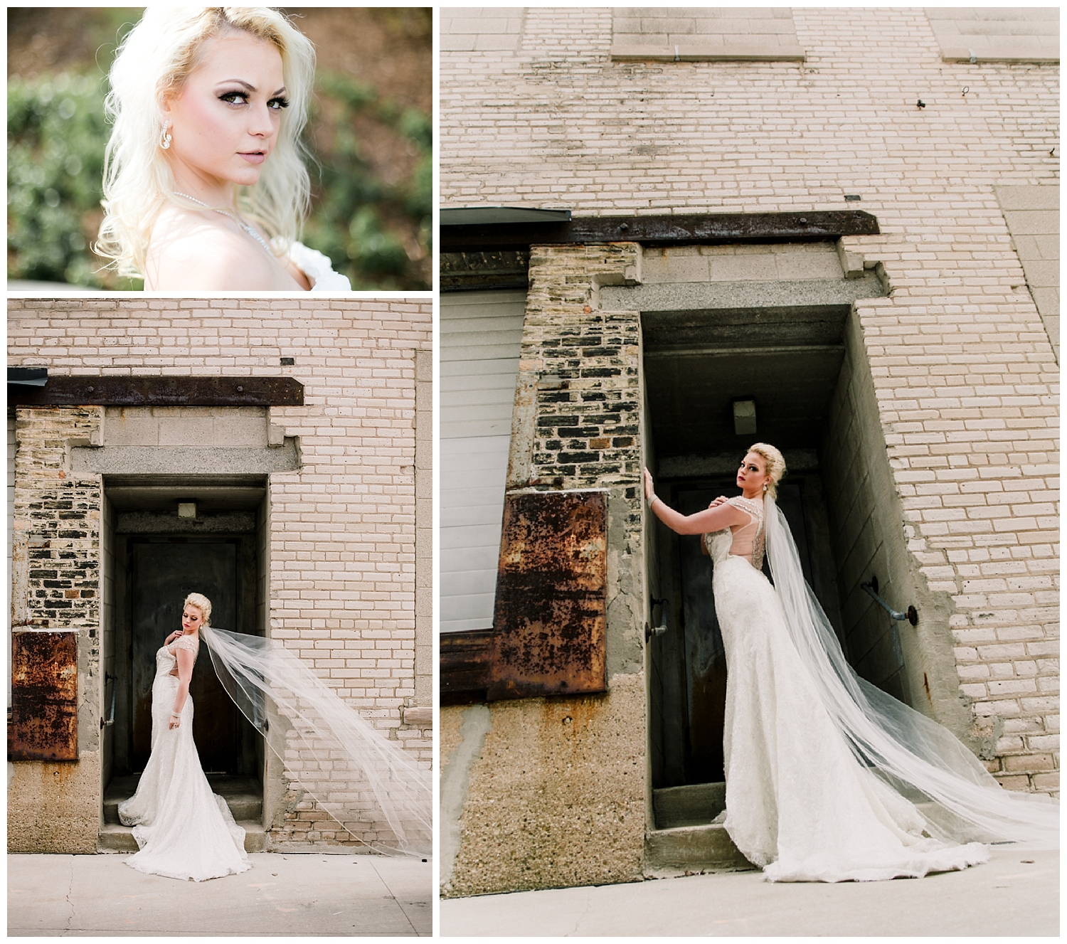 Bridal editorial fierceness.