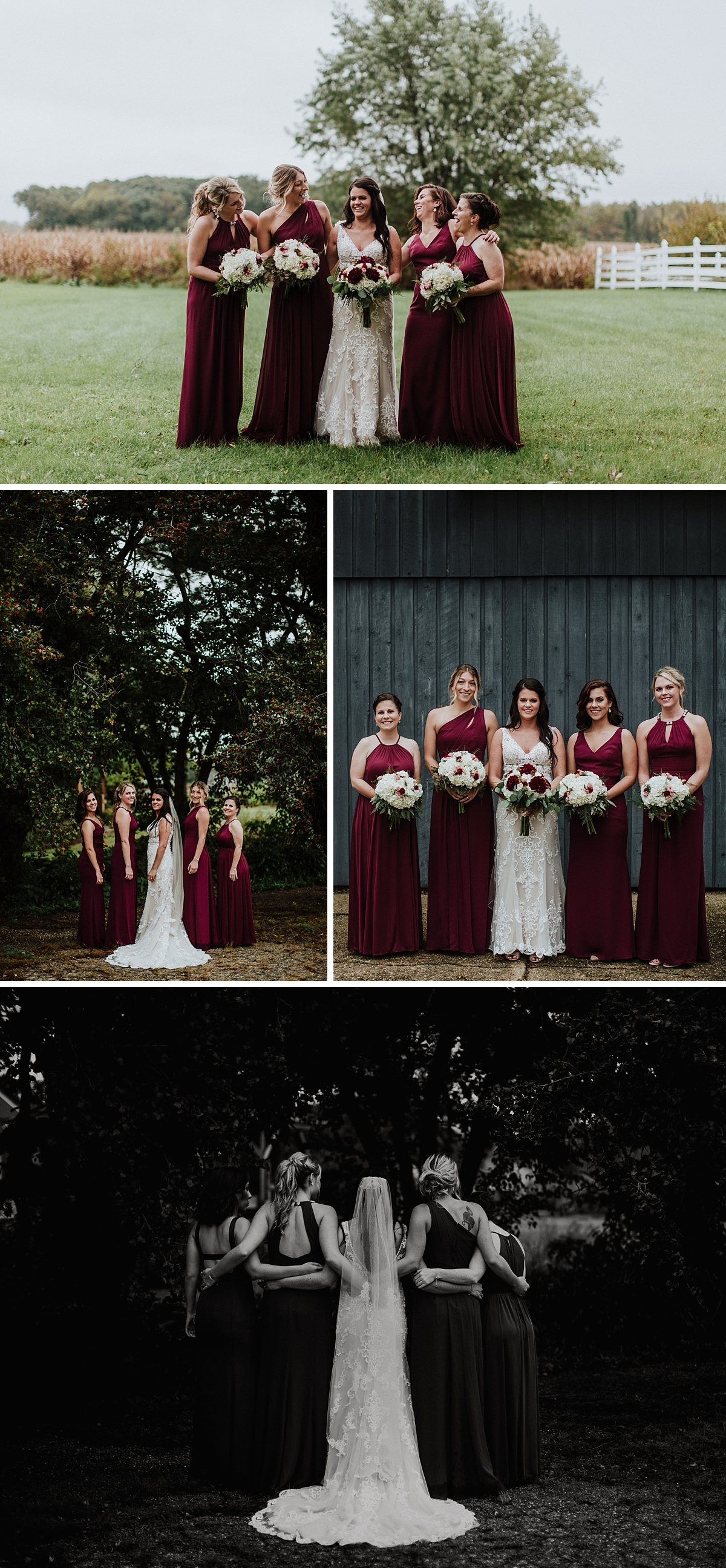 bridesmaid photos at rosewood Delavan