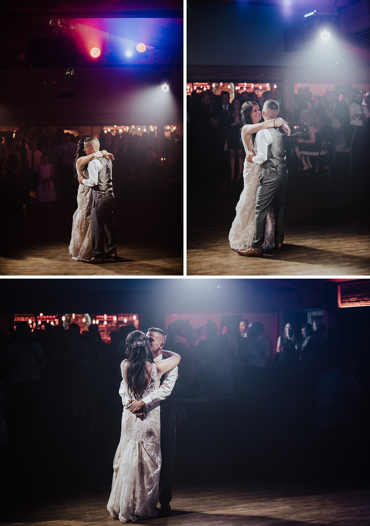 bride and groom dancing at rosewood