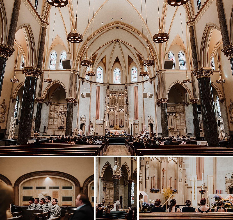 Wedding ceremony at Church of the Gesu
