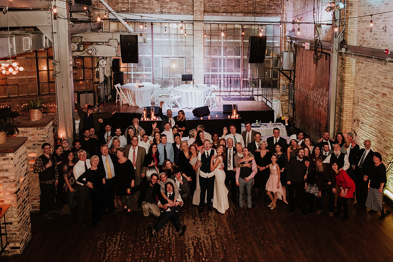 wedding reception at the cooperage