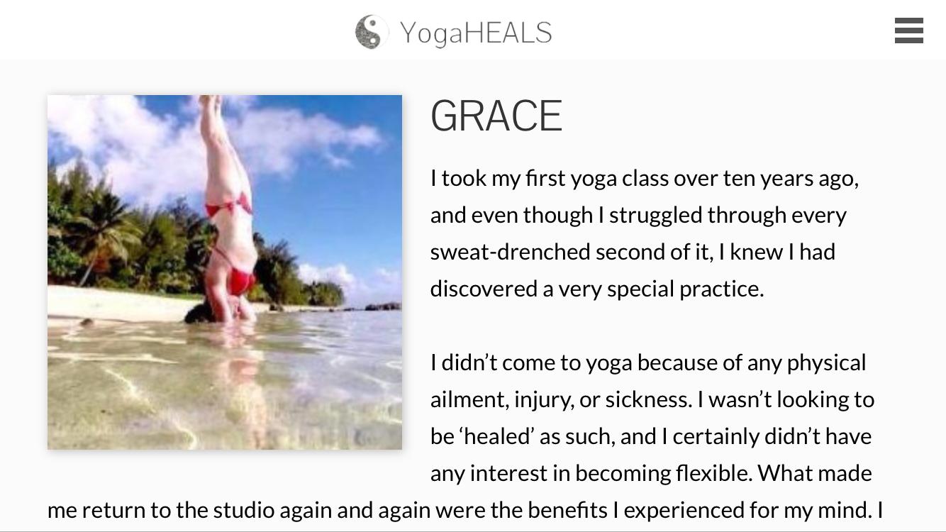Article on yogahealseverywhere.com