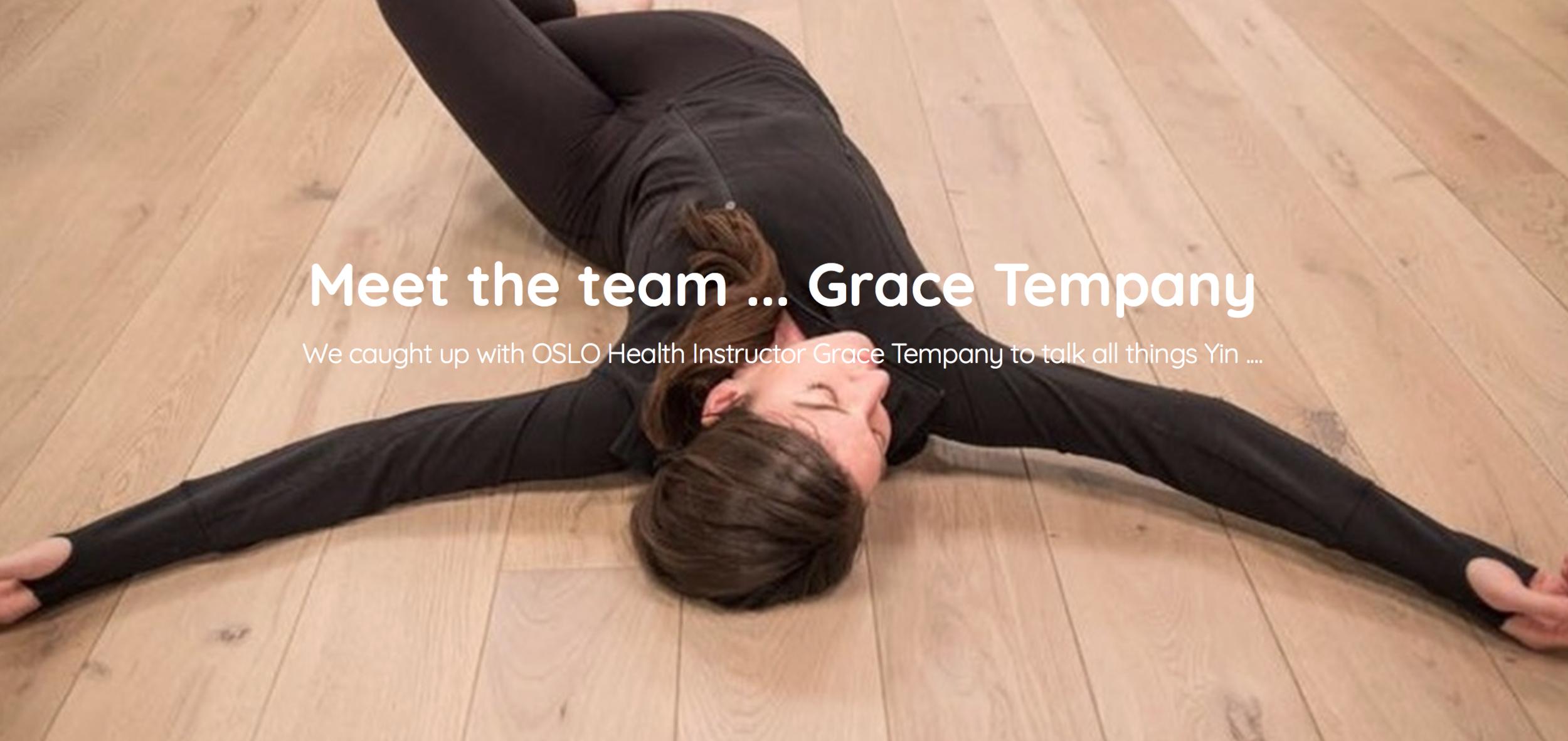 Grace Tempany - OSLO Health Teacher Spotlight