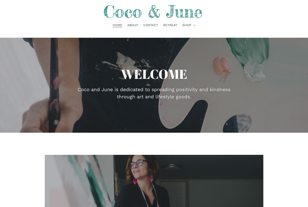 Coco & June  welcomes her customers into a great branding experience. She used  Donald Miller's Building a StoryBrand  to create a clear message.