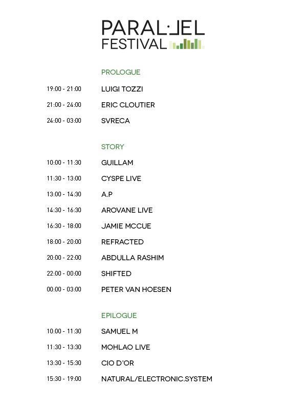 Paral·lel Festival Line Up 2016