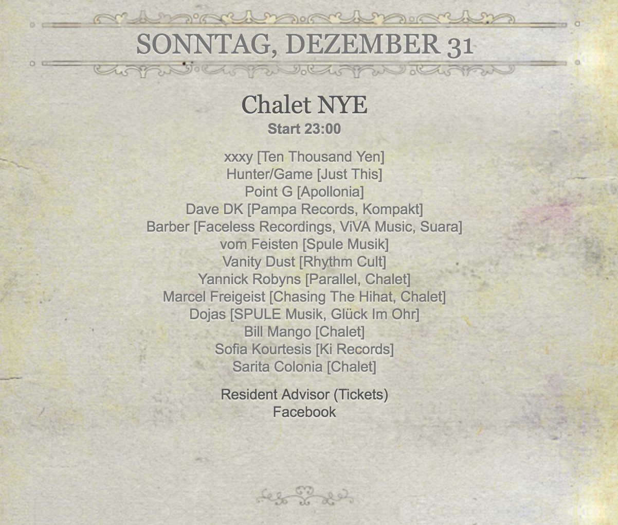 Chalet Club Berlin NYE