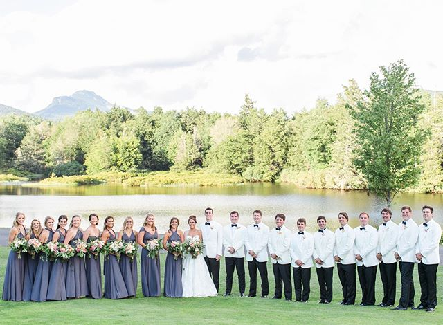 Remembering Austin and Patrick's beautiful wedding last August. Today we celebrate another couple who has chosen this view for their wedding. Photographer: @carriecolemanphoto . . #weddingseason #summerwedding #augustwedding #callistaweddings #linvillewedding #linville #mountainwedding #mountainview #highcountryweddings #grandfathermountain #summerflowers #squadgoals #828isgreat