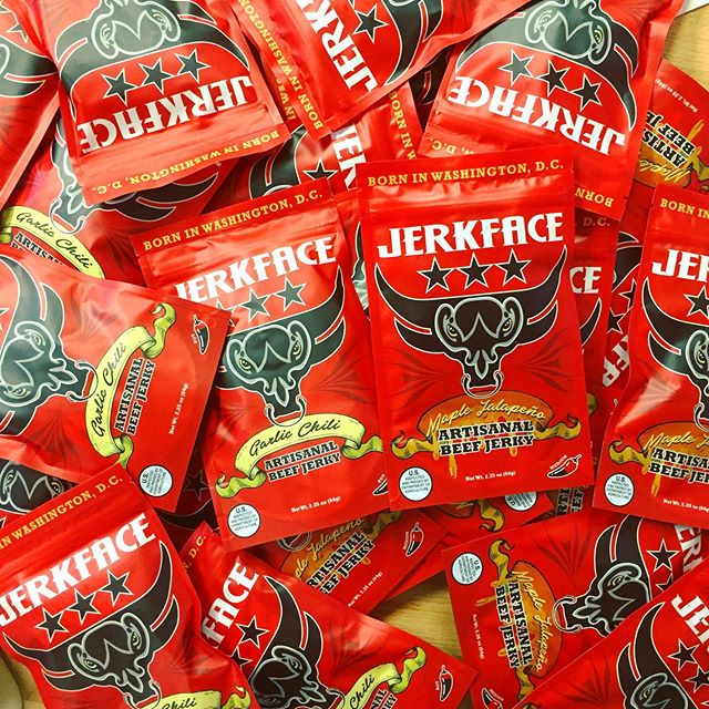 When it's SO hot out that you have to be inside all day, why not snack on some @jerkfacedc Maple Jalapeño or Garlic Chili Jerky 🤤#tgif  #dcsummer #madeindc #madeintastelab #jerkytime