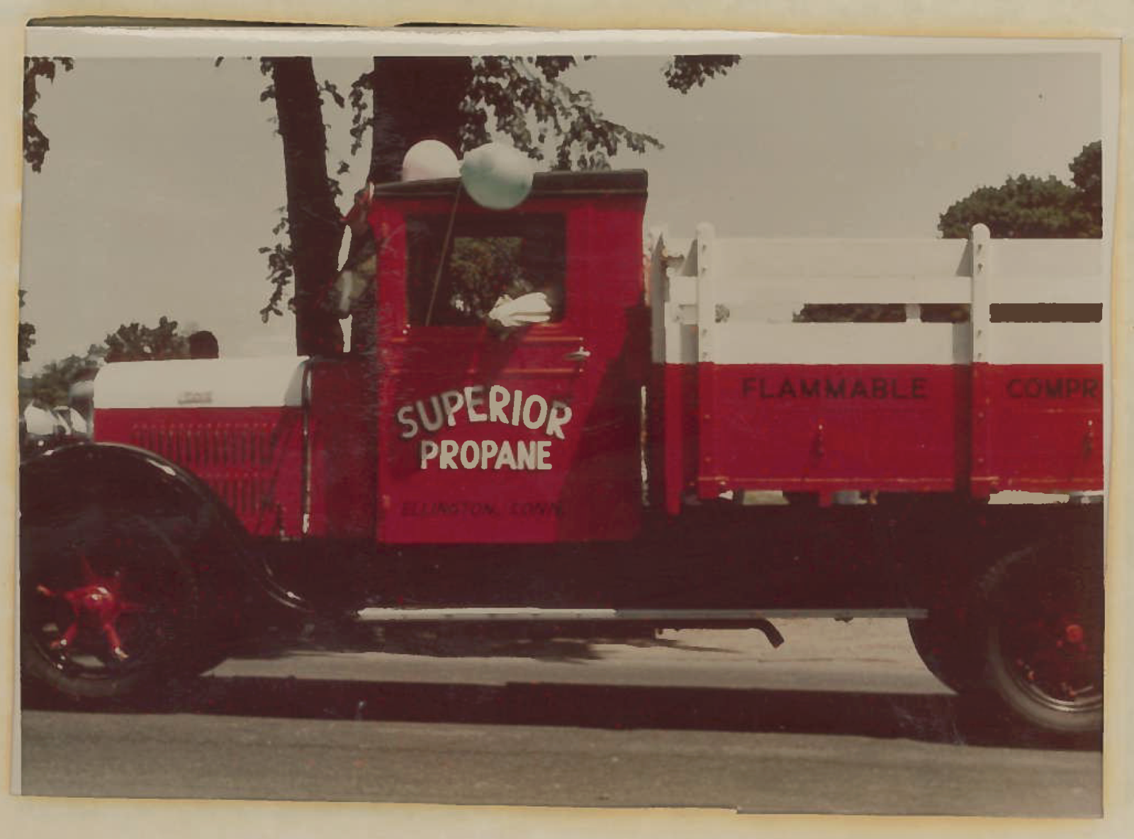 Superior's 1928 Stewart Truck in the Ellington Memorial day parade.