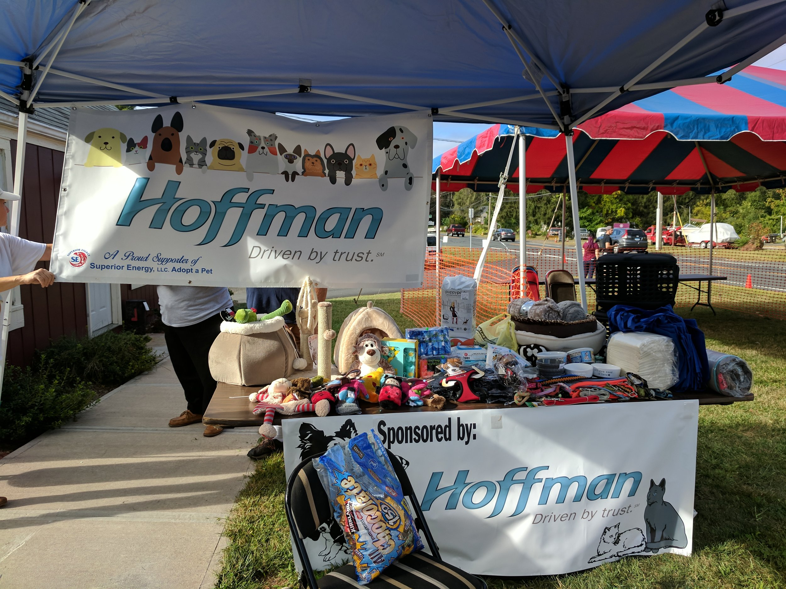 Thanks to the generosity of the  Hoffman Auto Group , pet supplies like beds, food bowls, toys, and more were available for FREE to all the new adoptive families to take home with them.
