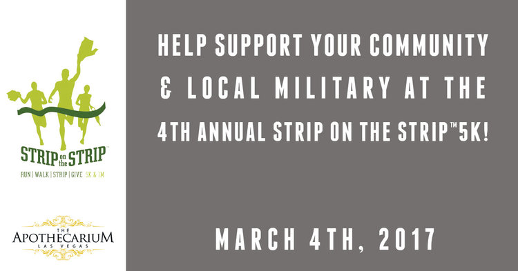 Support your community and local military at Strip on the Strip