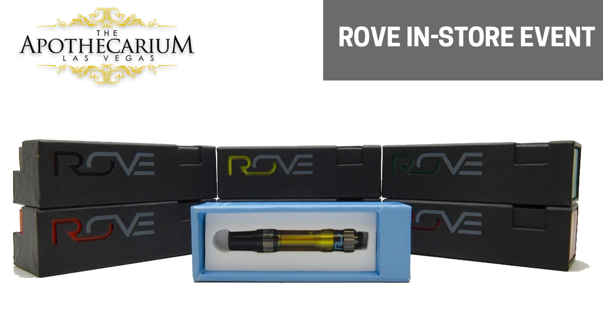 Rove Vape Pens and marijuana supplies at an in-store event at The Apothecarium.