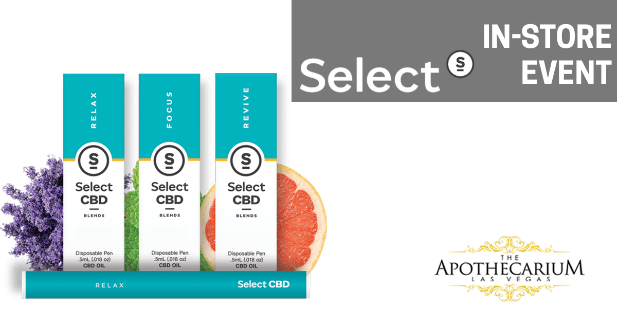 Select CBD Oil now available at The Apothecarium in Las Vegas, NV.