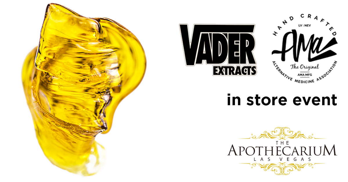 the apothecarium a recreational and medical cannabis dispensary discuss their in store event with vader extracts nevada and ama
