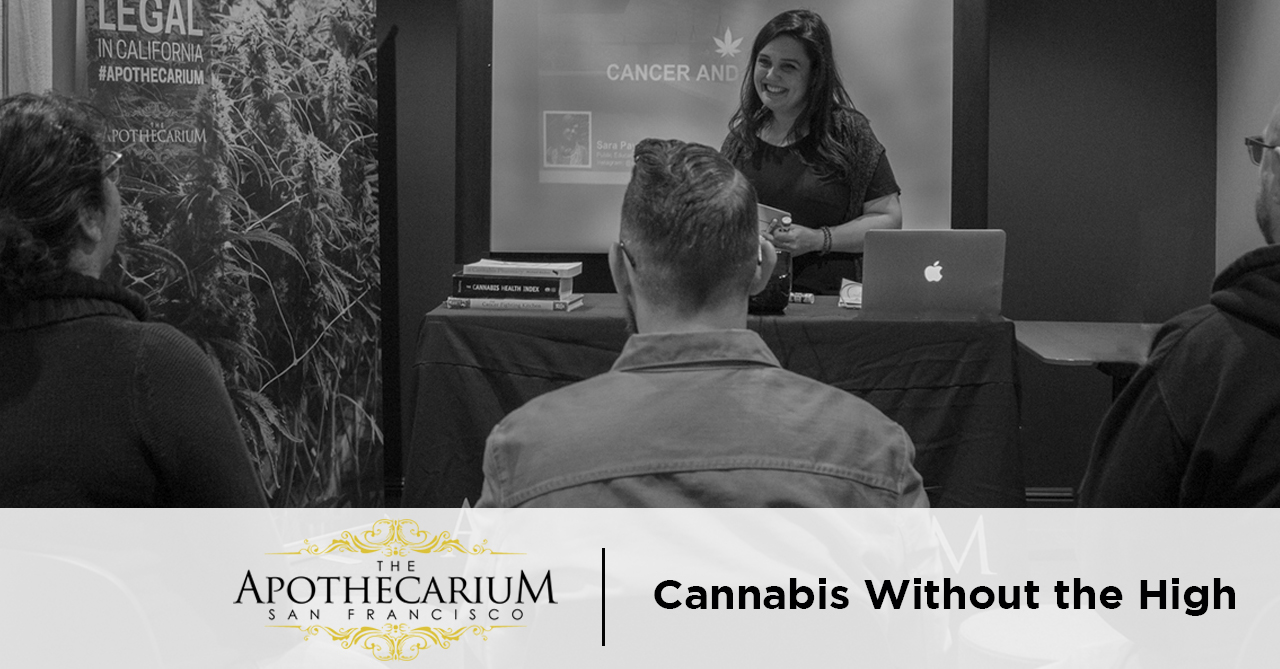 the apothecarium san francisco a medical and recreational marijuana dispensary discuss cannabis without the high with cbd and thca