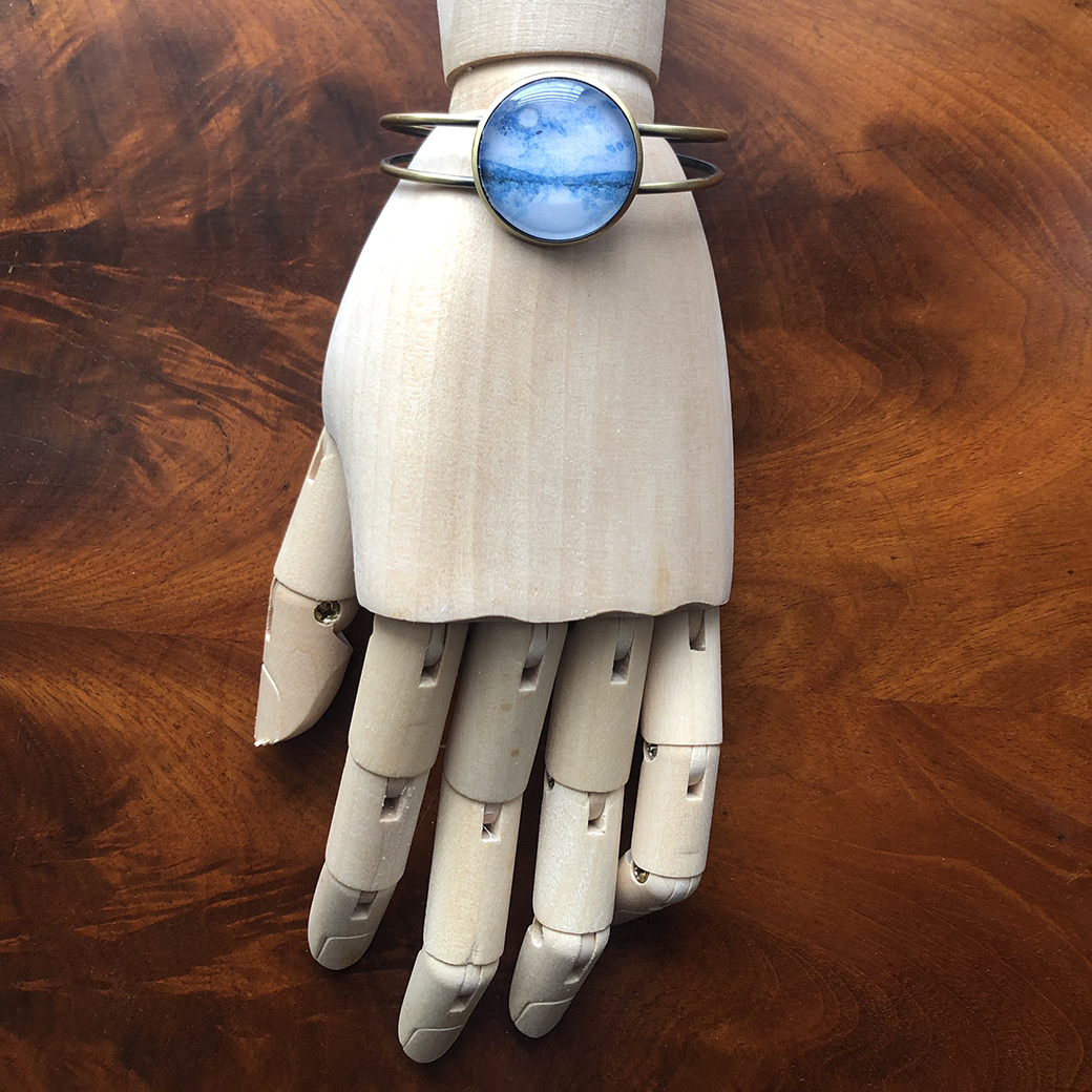 Moonlight Sonata Bracelet, 25mm glass cabochon, 2019  CLICK HERE TO PURCHASE