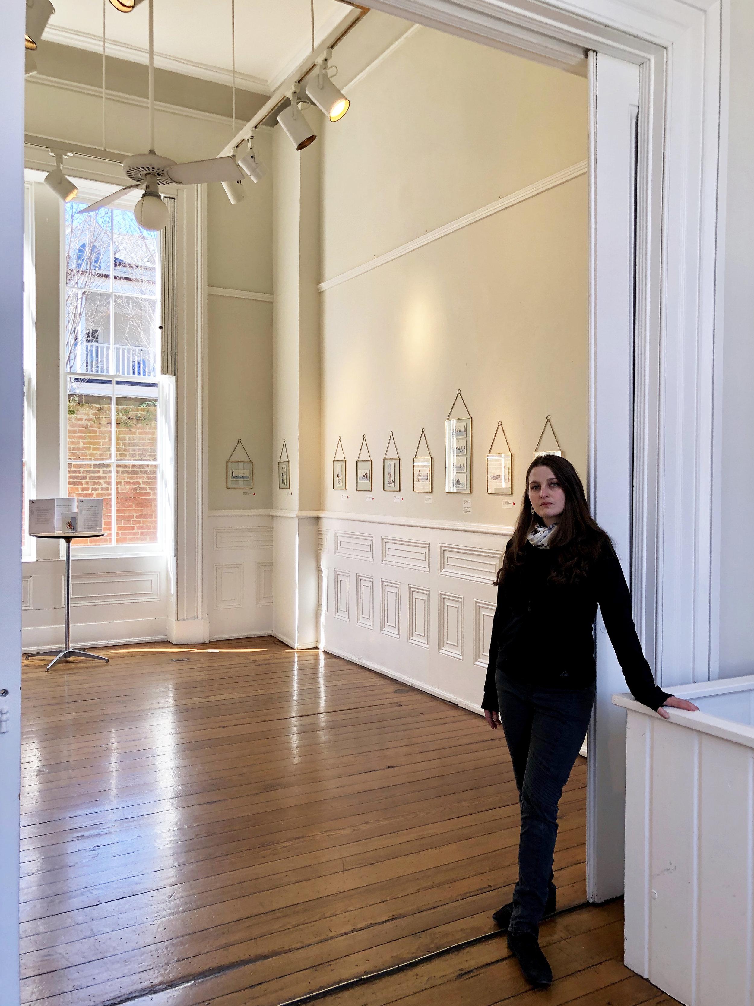 The Artist with Checks & Balances at The Athenaeum Gallery, Alexandria VA. 2019