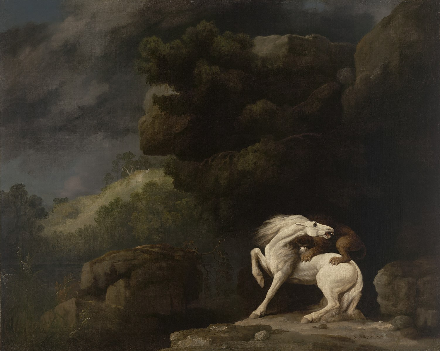 Lion Attacking a Horse, 1770, George Stubbs, Yale University