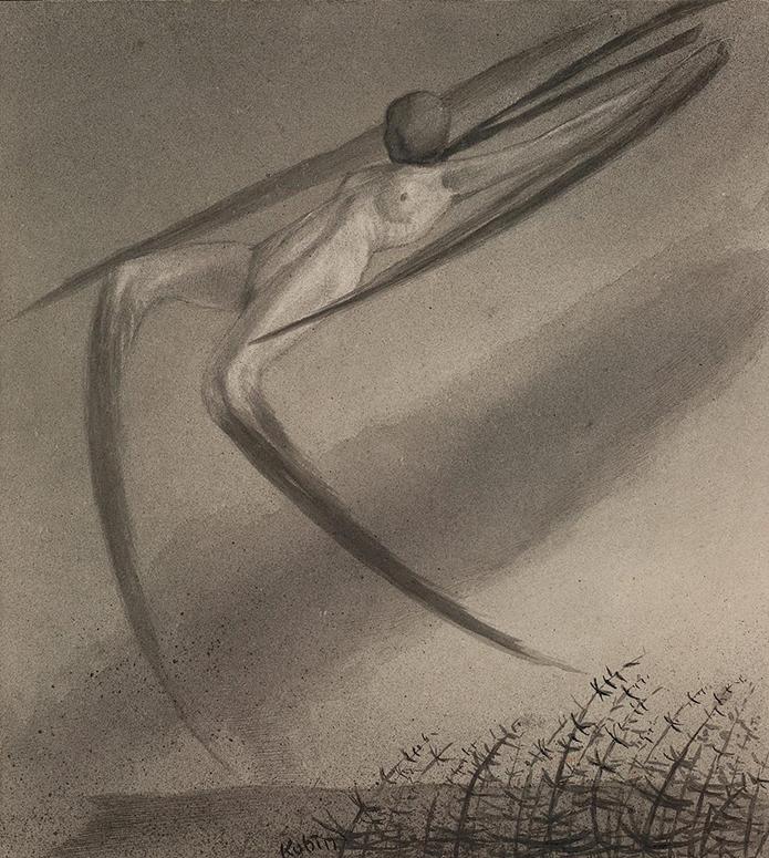 Alfred Kubin, Jede Nacht Besucht Uns Ein Traum (Every Night We Are Haunted by a Dream) c. 1902-3, Albertina, Vienna