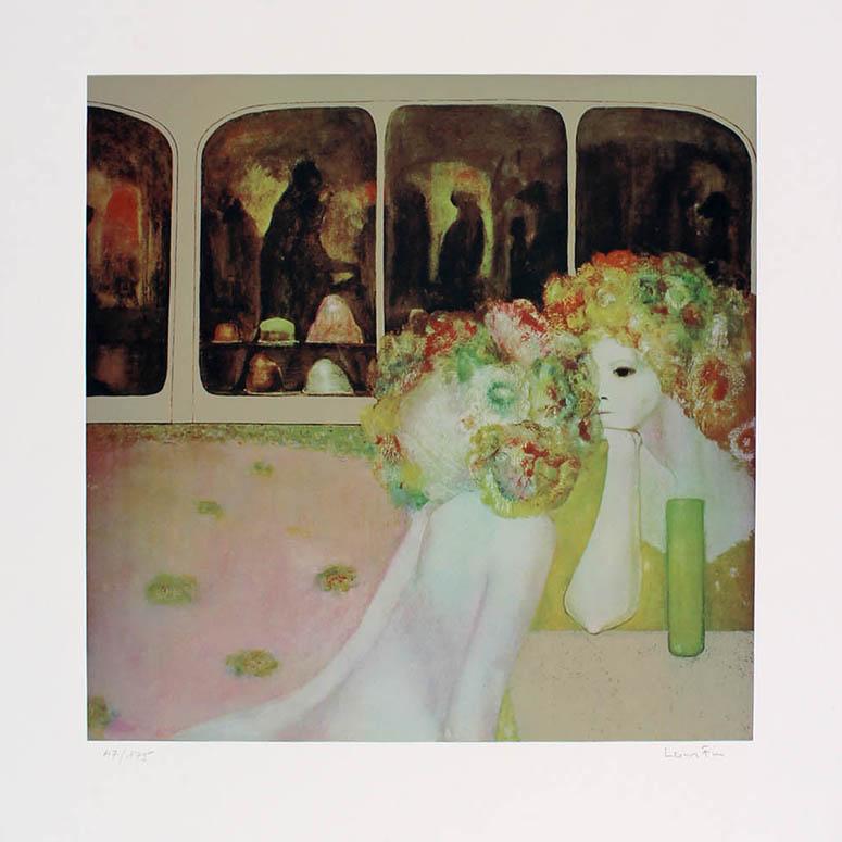 Leonor Fini,  L'Autre Cote (The Other Side),  Color Serigraph, 1976. Gallery of Surrealism